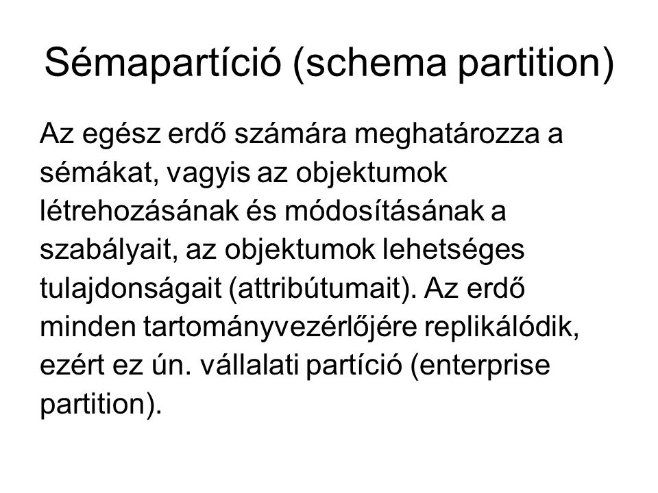Sémapartíció (schema partition)