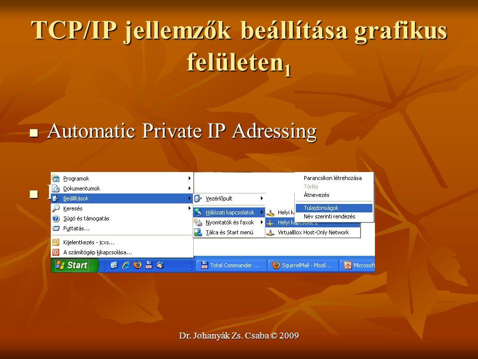 TCP/IP jellemzők beállítása grafikus felületen1
