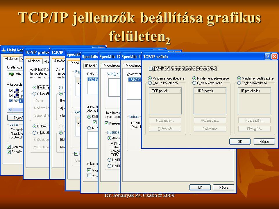 TCP/IP jellemzők beállítása grafikus felületen2