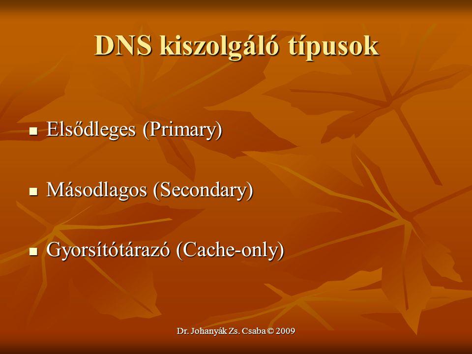 DNS kiszolgáló típusok