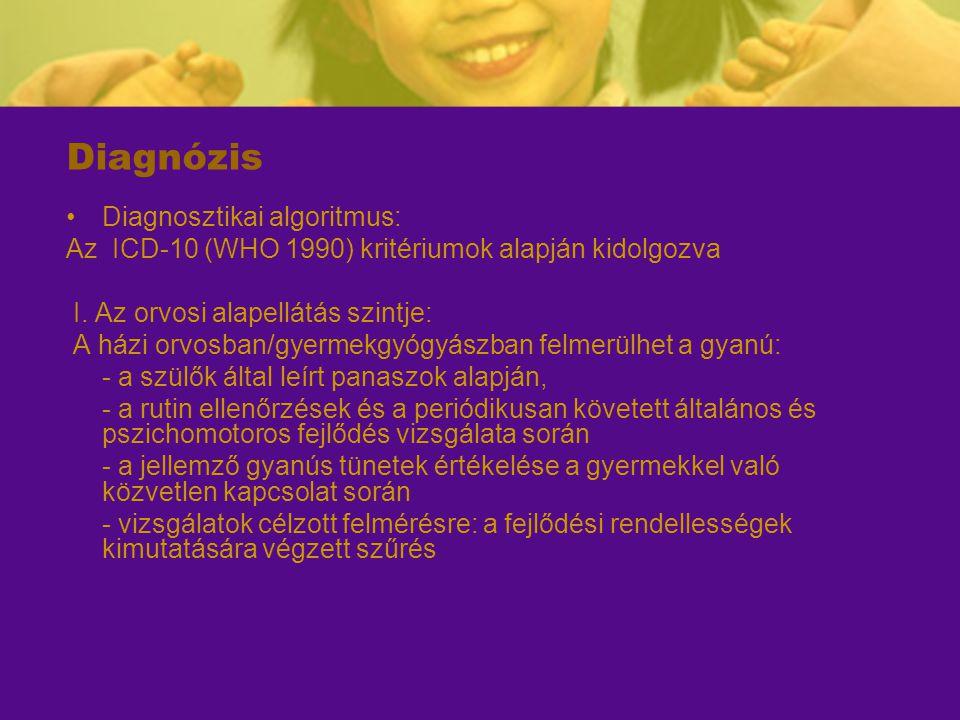 Diagnózis Diagnosztikai algoritmus: