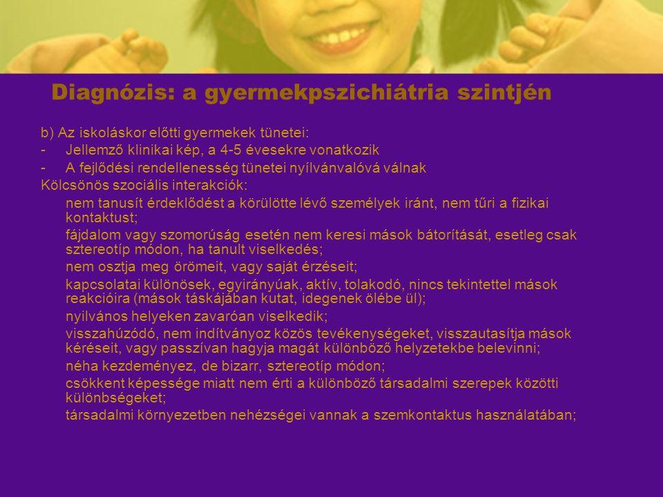Diagnózis: a gyermekpszichiátria szintjén