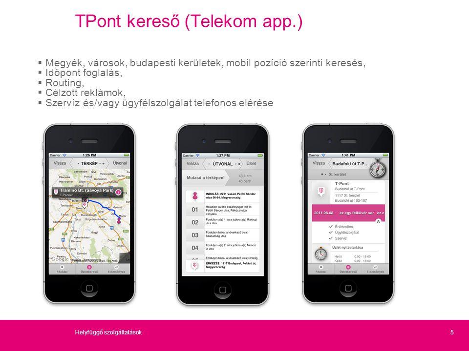TPont kereső (Telekom app.)