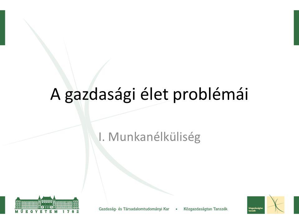 A gazdasági élet problémái