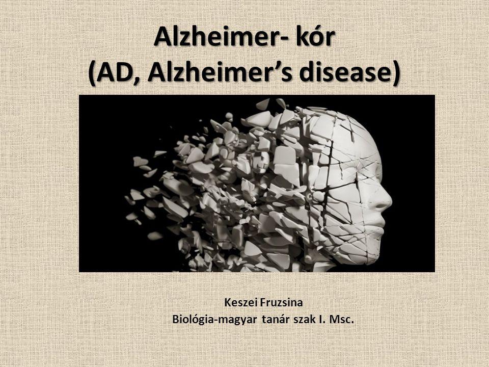 Alzheimer- kór (AD, Alzheimer's disease)