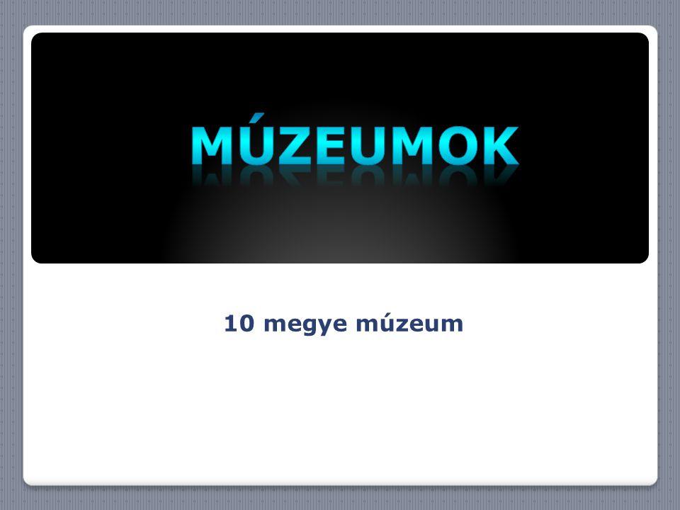 Múzeumok 10 megye múzeum