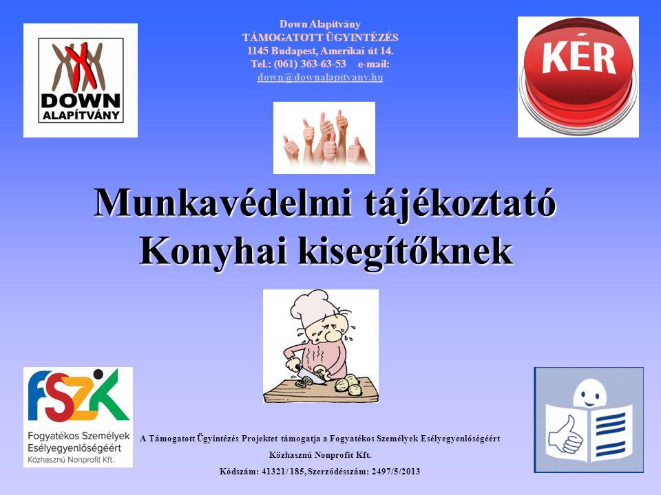 Munkavédelmi tájékoztató Konyhai kisegítőknek