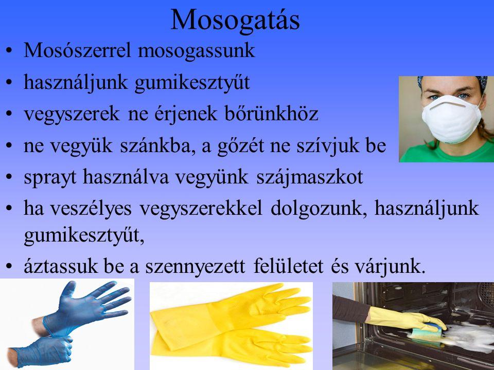 Mosogatás Mosószerrel mosogassunk használjunk gumikesztyűt