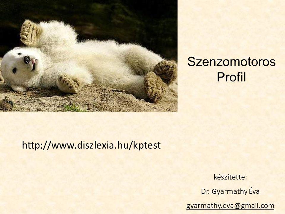 Szenzomotoros Profil http://www.diszlexia.hu/kptest készítette: