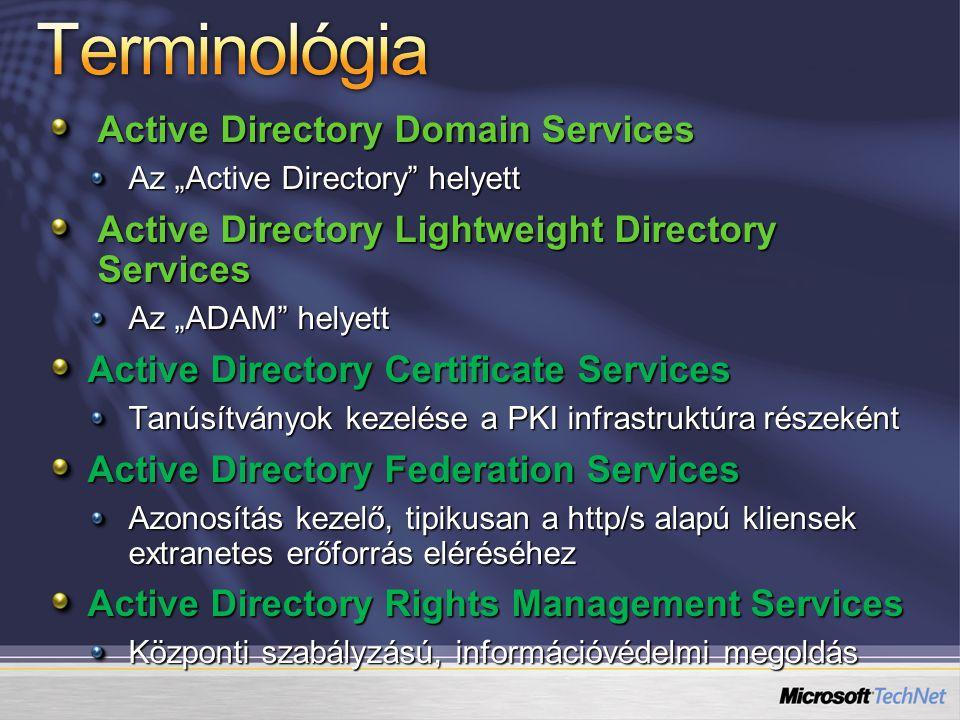 Terminológia Active Directory Domain Services