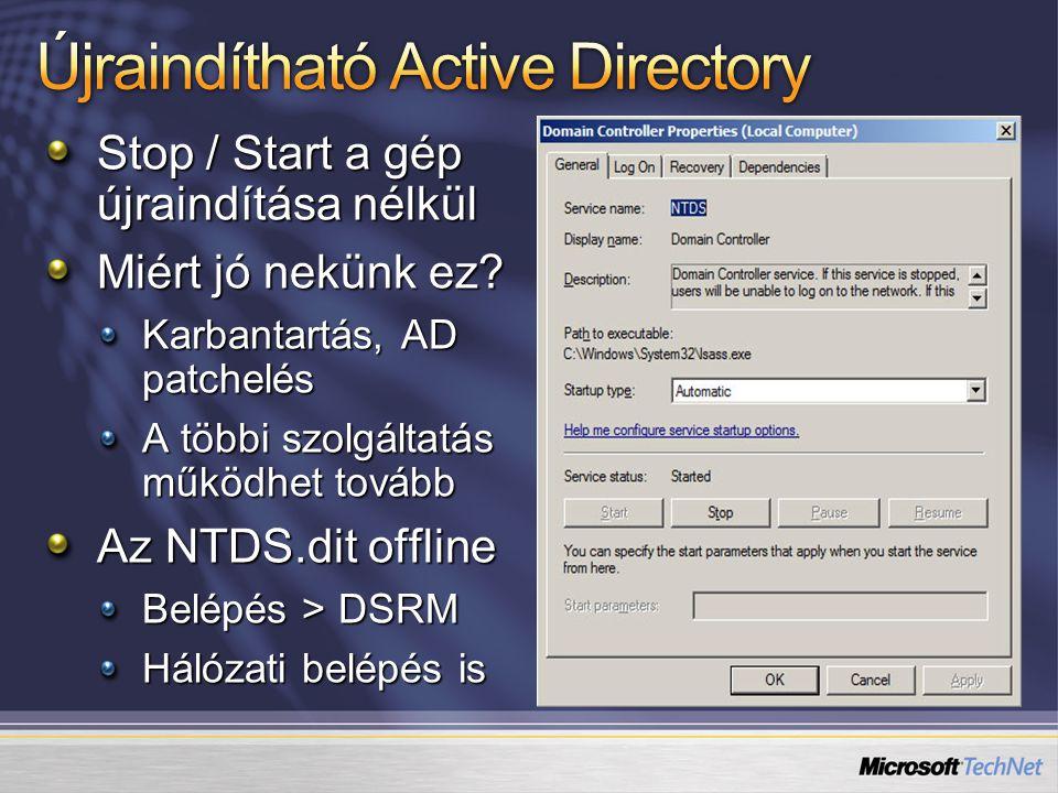 Újraindítható Active Directory