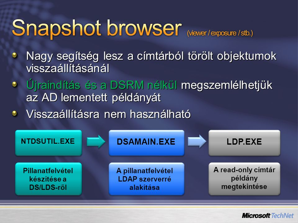Snapshot browser (viewer / exposure / stb.)