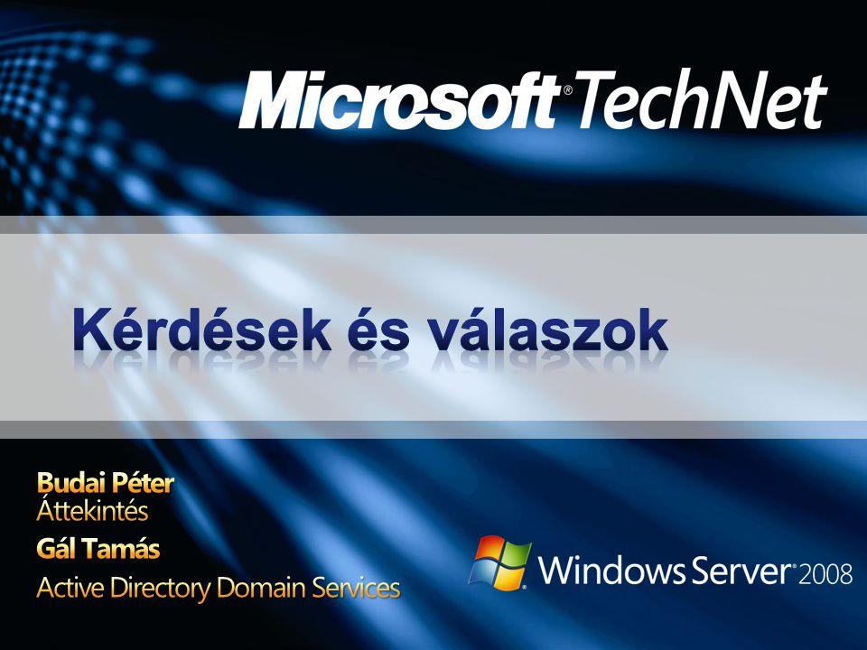 Budai Péter Áttekintés Gál Tamás Active Directory Domain Services