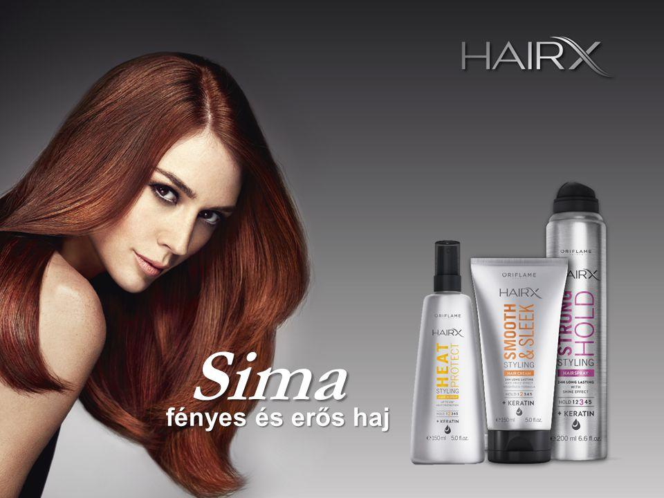 Sima fényes és erős haj