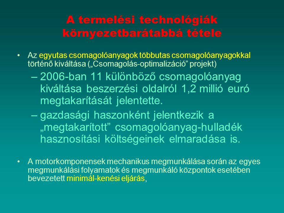 A termelési technológiák környezetbarátabbá tétele
