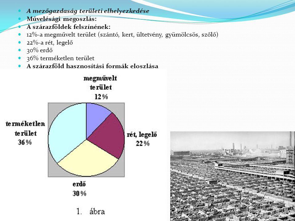 A mezőgazdaság területi elhelyezkedése