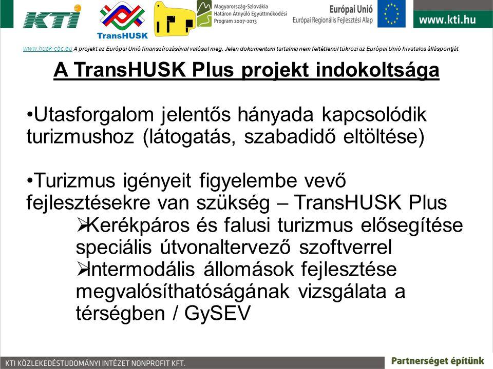 A TransHUSK Plus projekt indokoltsága