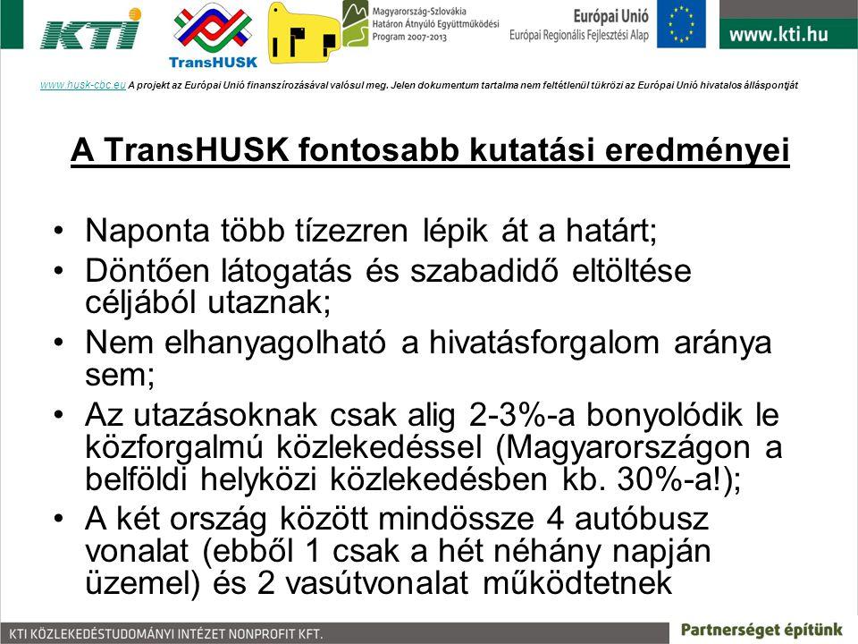A TransHUSK fontosabb kutatási eredményei