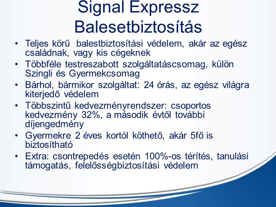 Signal Expressz Balesetbiztosítás