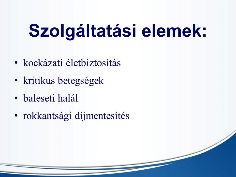 Szolgáltatási elemek: