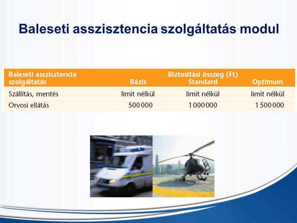 Baleseti asszisztencia szolgáltatás modul