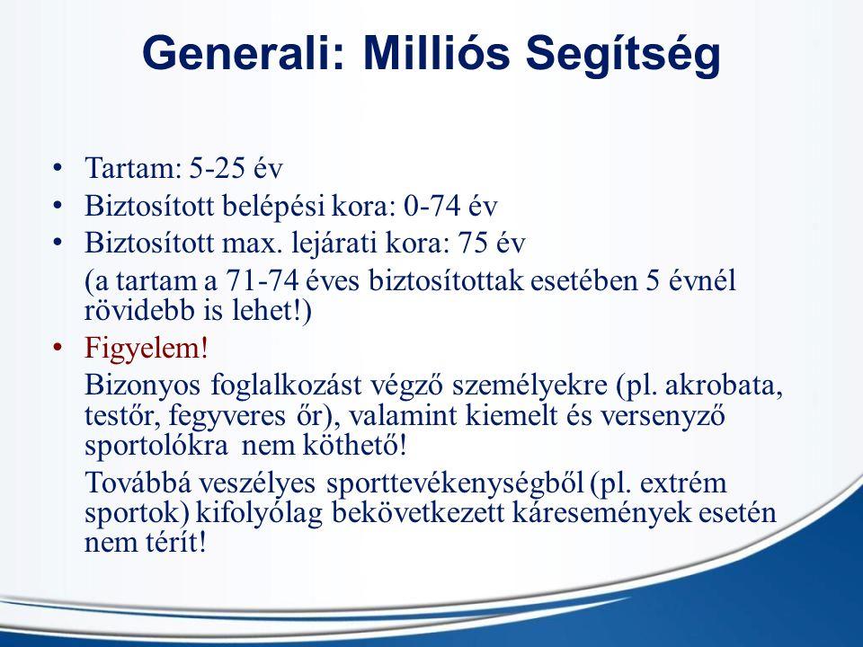 Generali: Milliós Segítség
