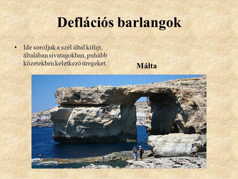 Deflációs barlangok Málta