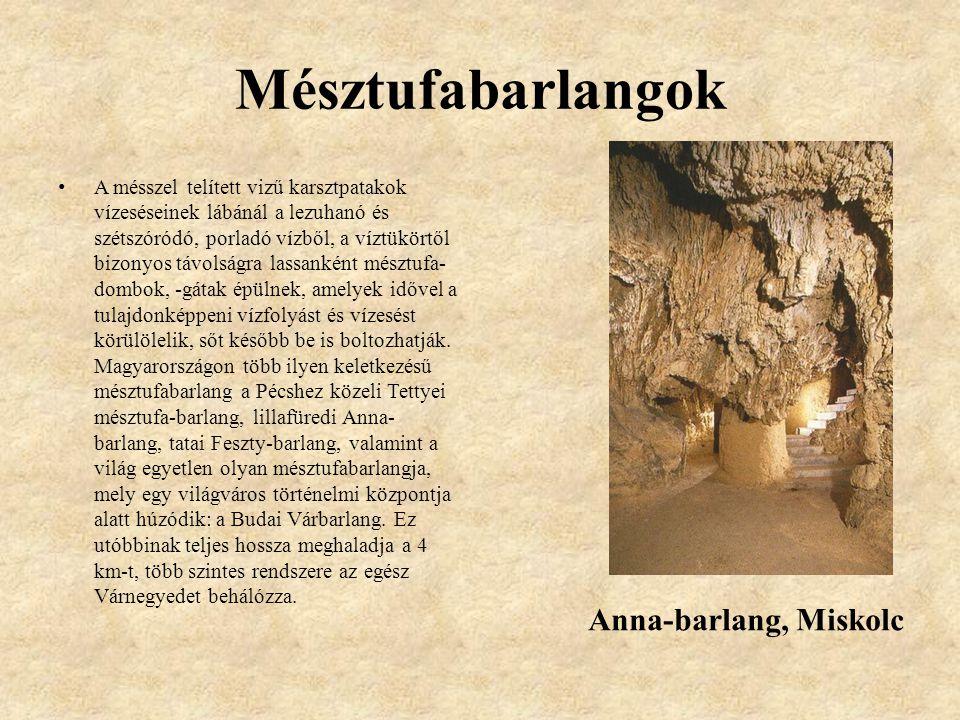 Mésztufabarlangok Anna-barlang, Miskolc