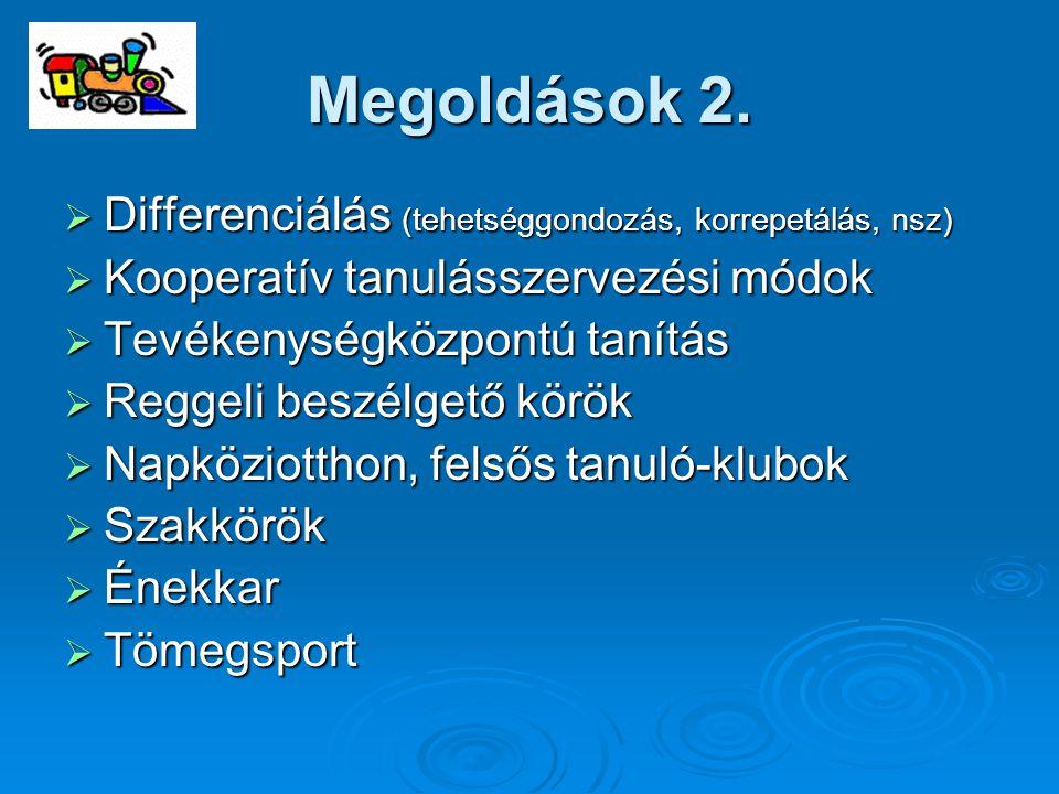 Megoldások 2. Differenciálás (tehetséggondozás, korrepetálás, nsz)