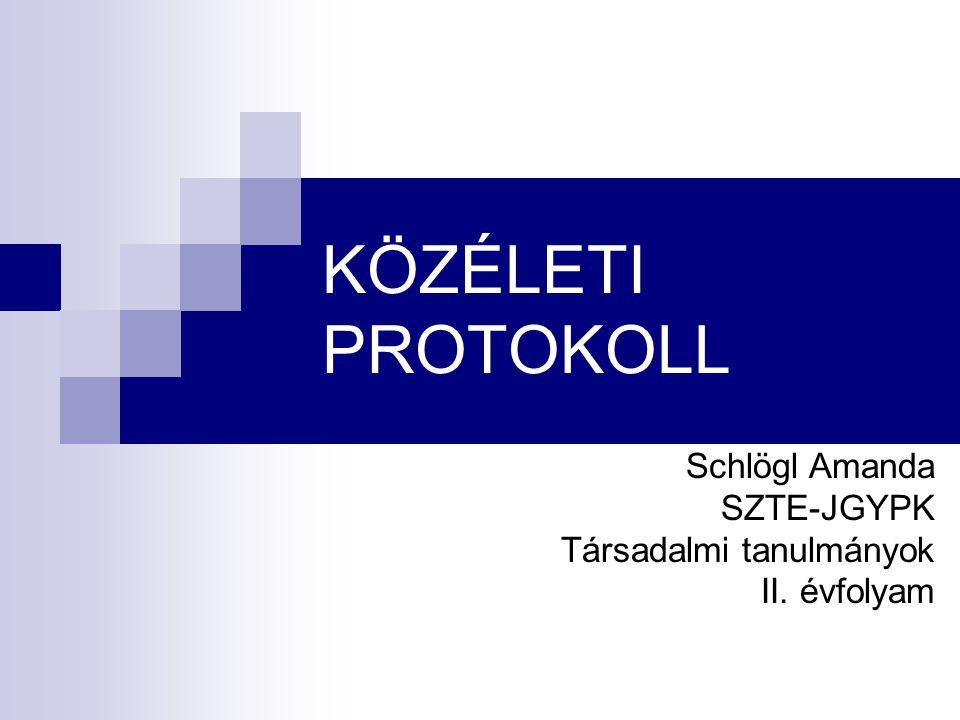 Schlögl Amanda SZTE-JGYPK Társadalmi tanulmányok II. évfolyam
