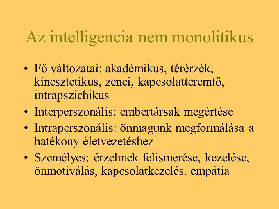 Az intelligencia nem monolitikus