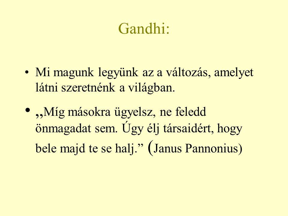 Gandhi: Mi magunk legyünk az a változás, amelyet látni szeretnénk a világban.
