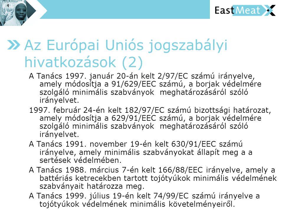 Az Európai Uniós jogszabályi hivatkozások (2)