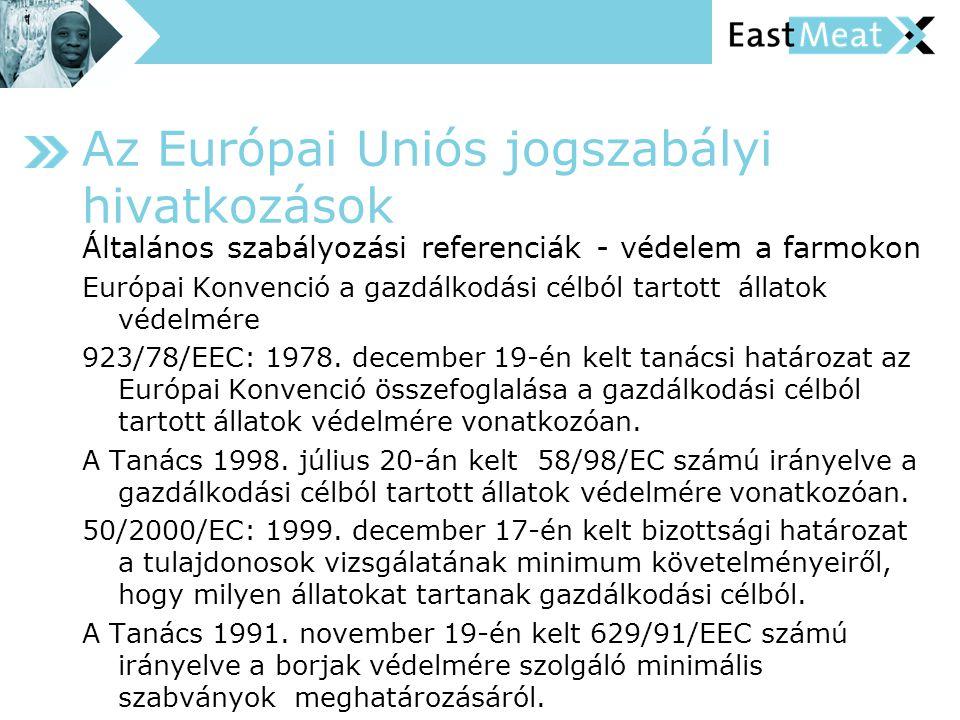 Az Európai Uniós jogszabályi hivatkozások