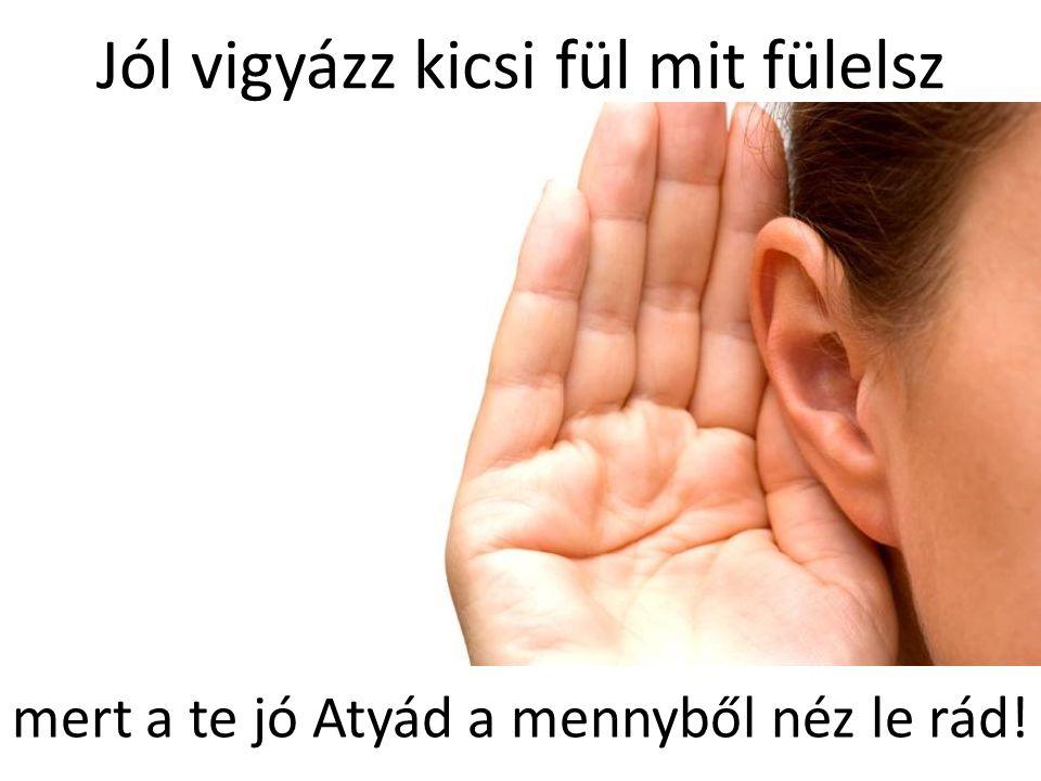 Jól vigyázz kicsi fül mit fülelsz