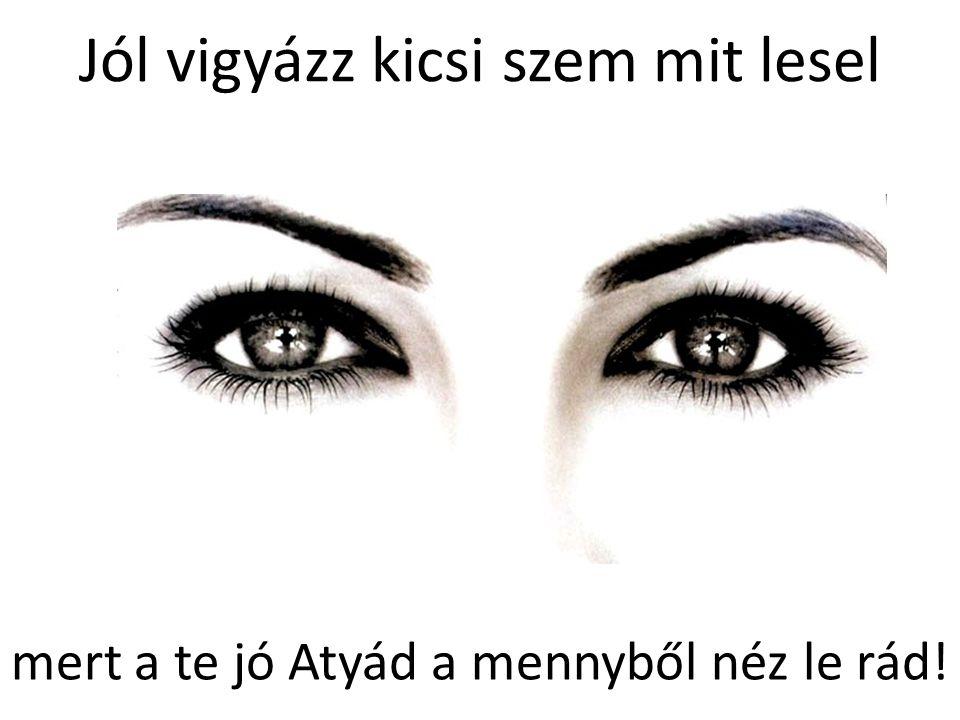 Jól vigyázz kicsi szem mit lesel