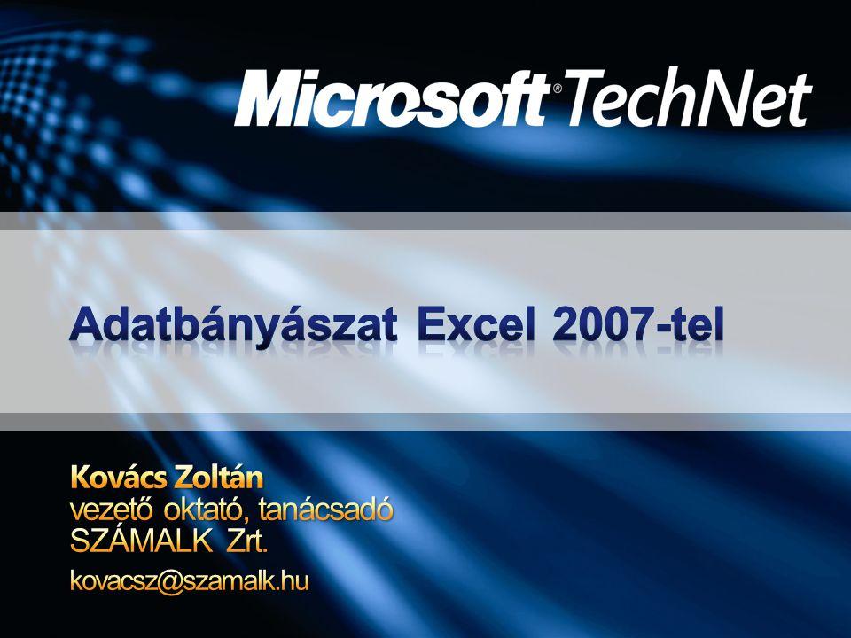 Adatbányászat Excel 2007-tel