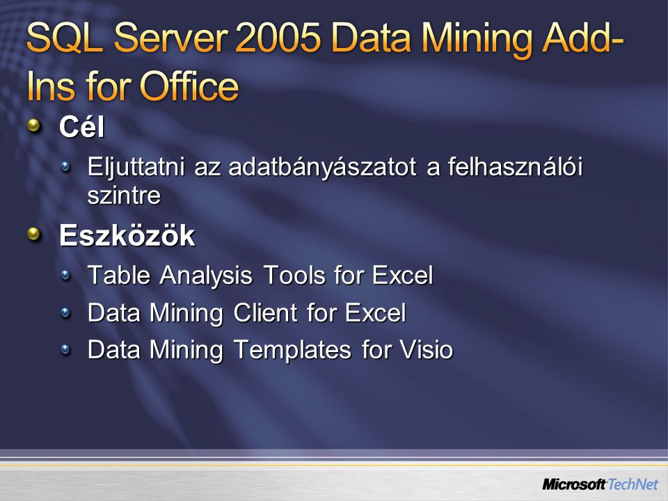 SQL Server 2005 Data Mining Add-Ins for Office