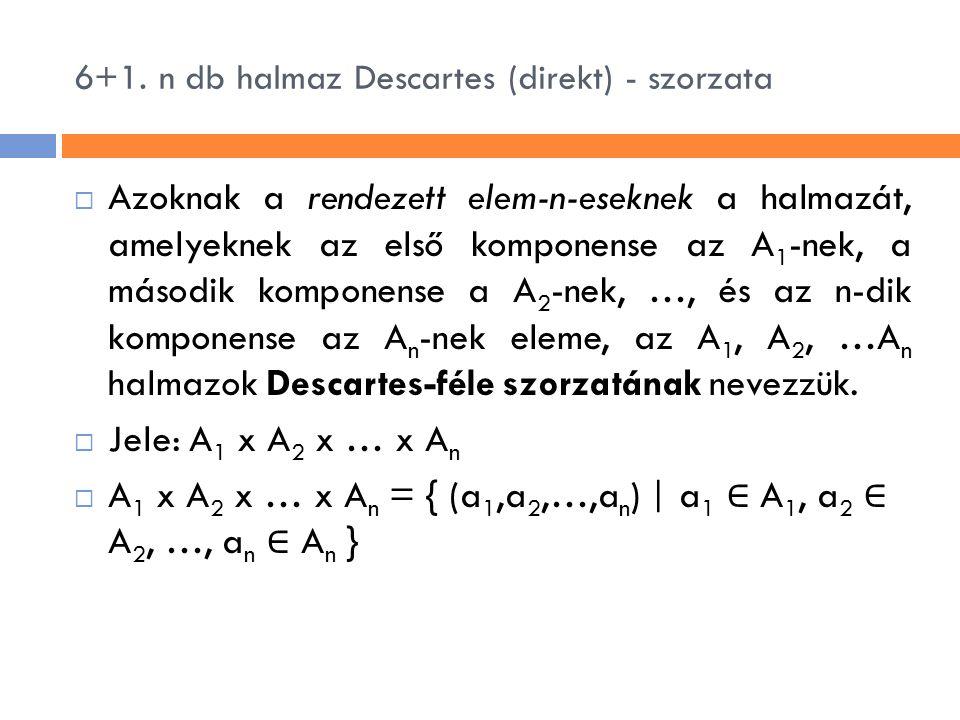 6+1. n db halmaz Descartes (direkt) - szorzata