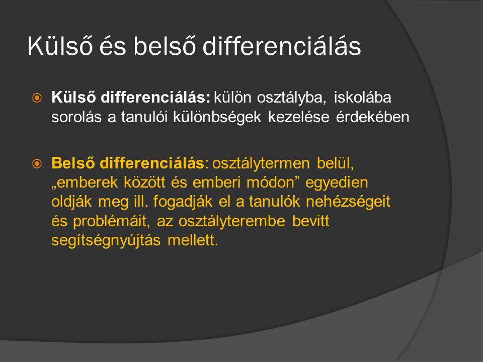 Külső és belső differenciálás