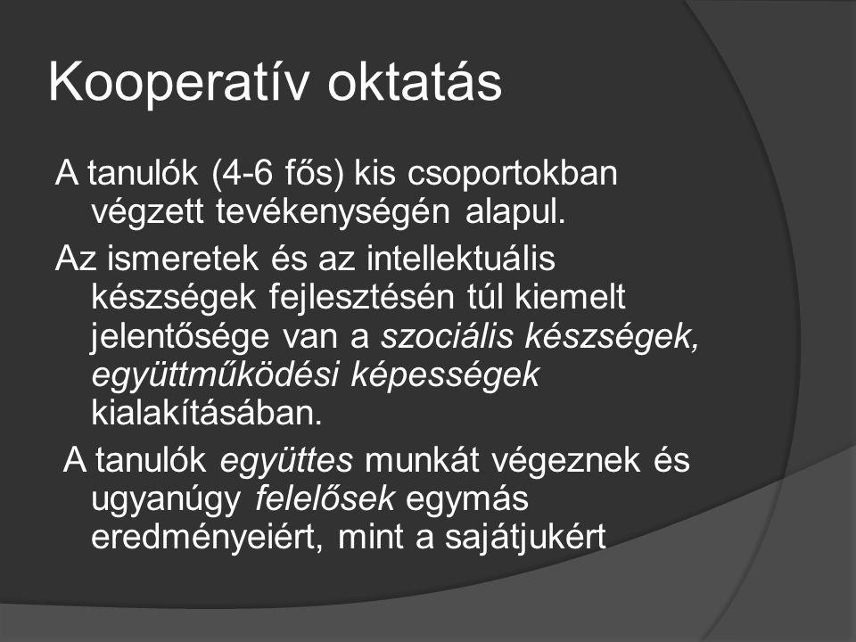 Kooperatív oktatás