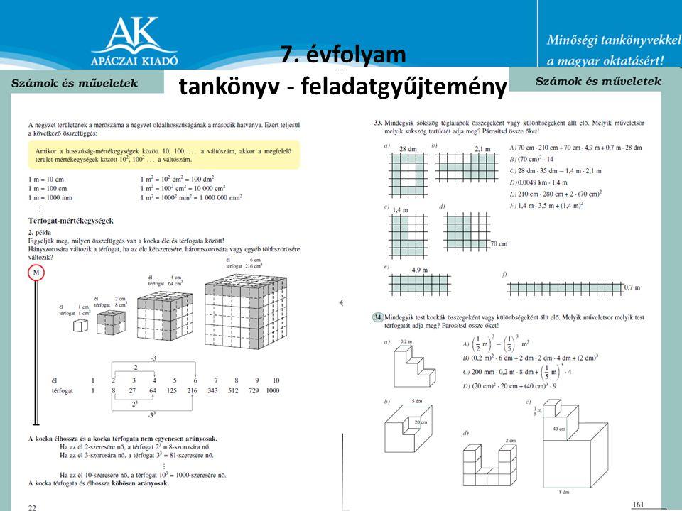 7. évfolyam tankönyv - feladatgyűjtemény