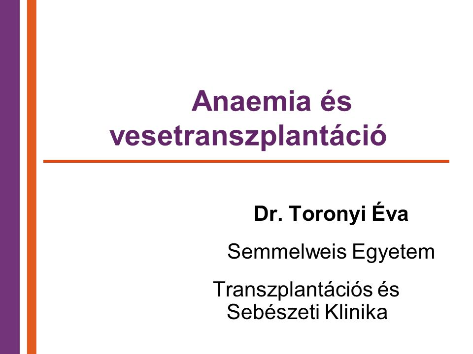 Anaemia és vesetranszplantáció
