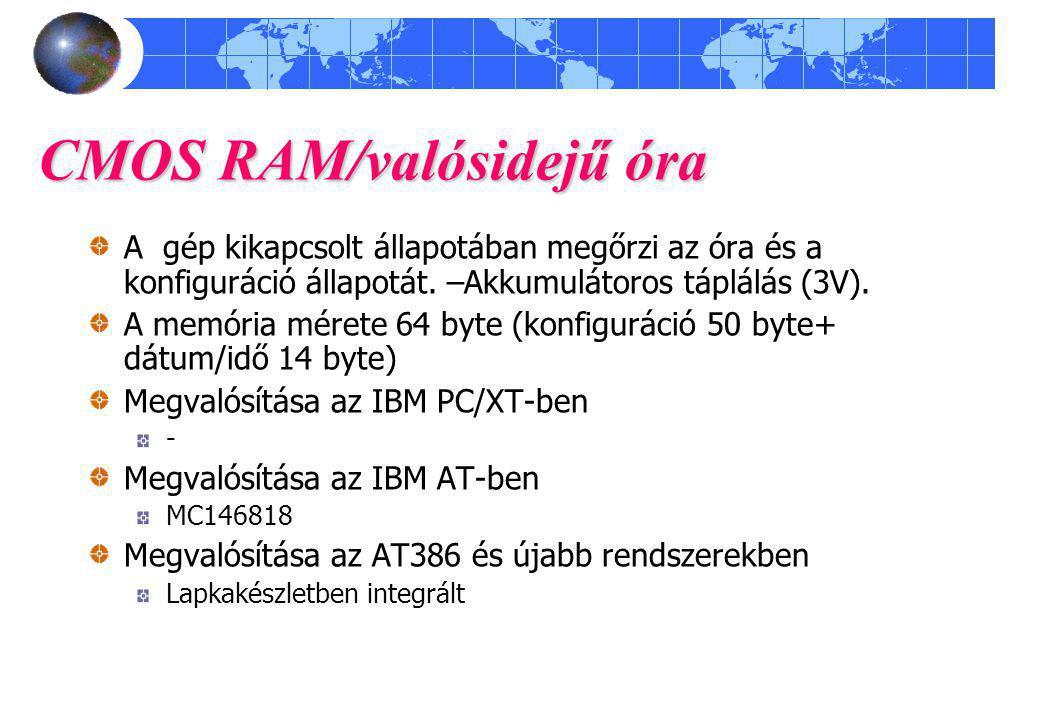 CMOS RAM/valósidejű óra