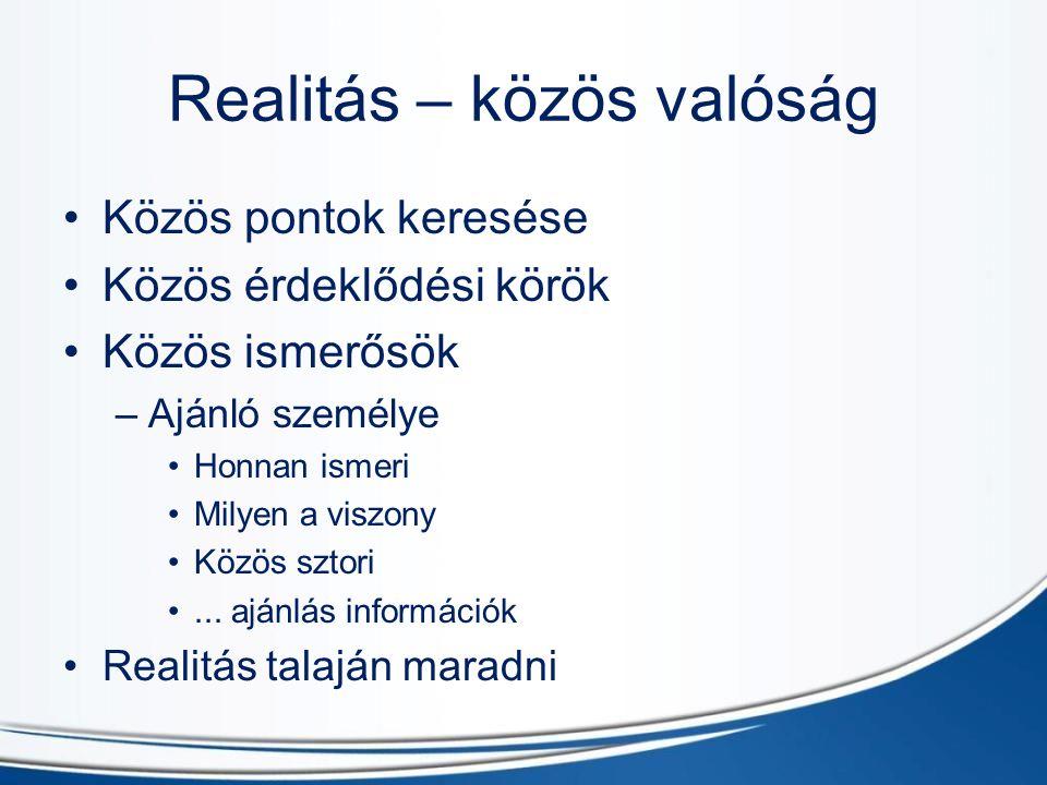 Realitás – közös valóság