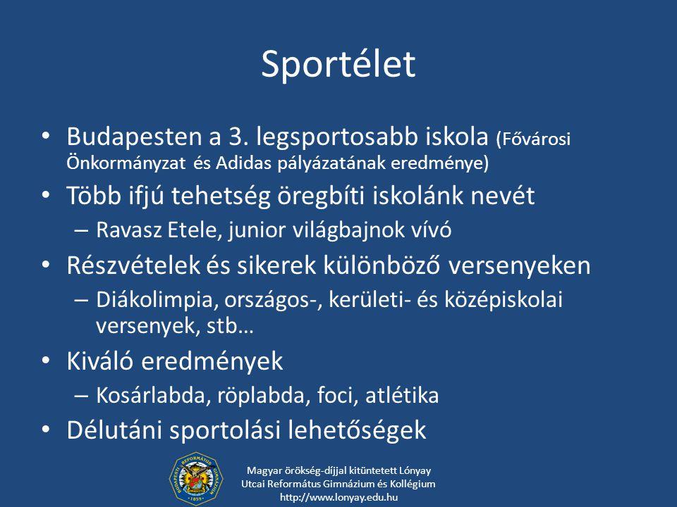 Sportélet Budapesten a 3. legsportosabb iskola (Fővárosi Önkormányzat és Adidas pályázatának eredménye)