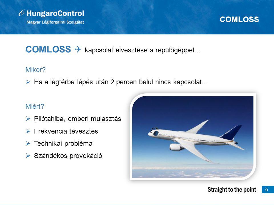 COMLOSS Q kapcsolat elvesztése a repülőgéppel…