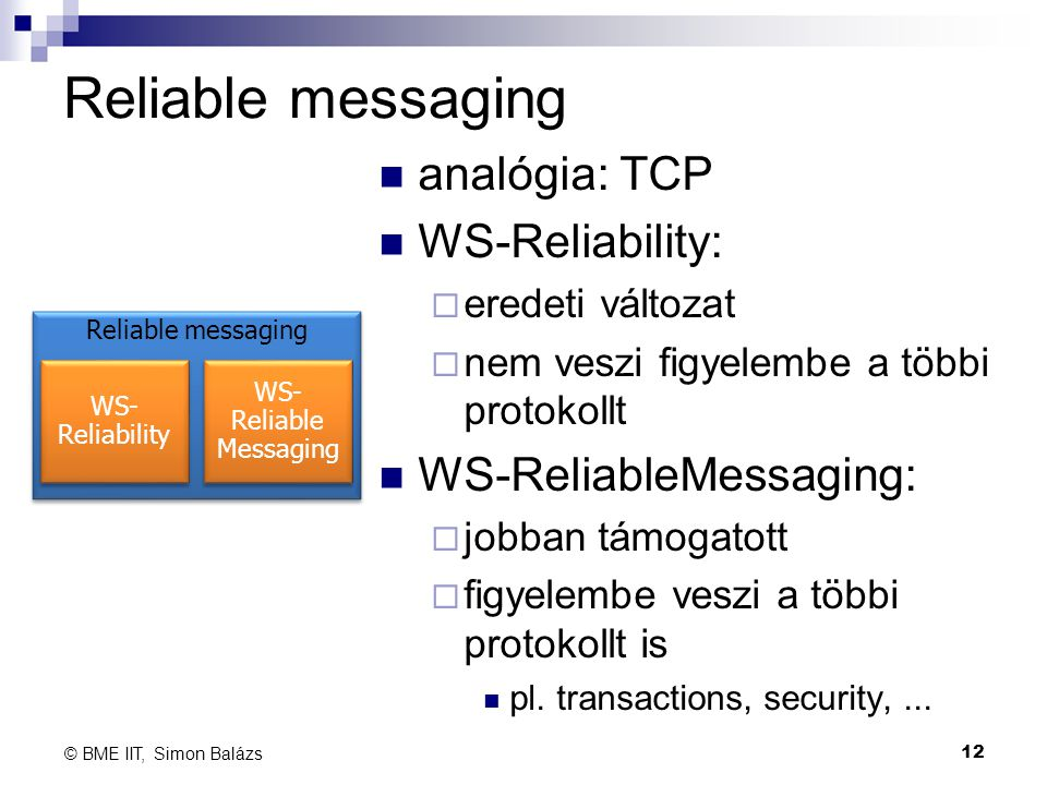 WS- Reliable Messaging