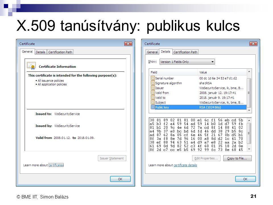 X.509 tanúsítvány: publikus kulcs