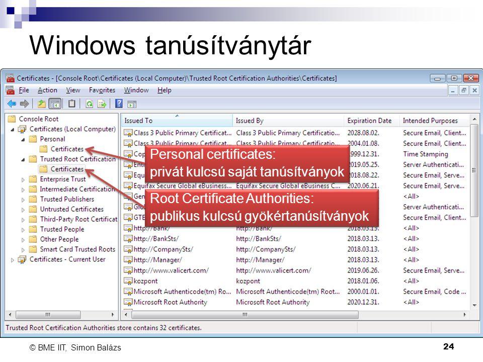 Windows tanúsítványtár